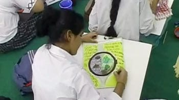 Videos : दिल्ली : बच्चों ने पेंटिंग में उतारी पहाड़ों की दशा