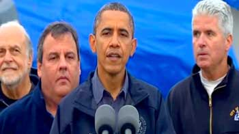 Video : Superstorm Sandy: Obama tours disaster zone as toll crosses 60