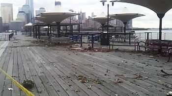 Video : Surfer video shows Exchange Place boardwalk devastated by Sandy