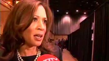 Video : Barack Obama is the right choice for US: Kamala Harris
