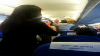 Video : Mid-air scare: Stewardess assaulted, passengers terrified