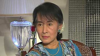 Video : My farewell message for my husband was too late: Suu Kyi to NDTV