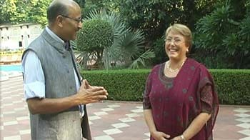 Video : Walk the Talk with Michelle Bachelet