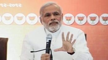 Video : Narendra Modi releases BJP's manifesto for Gujarat Assembly polls