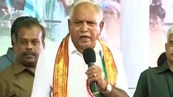 Video : Yeddyurappa formally launches KJP, huge show of strength in Haveri