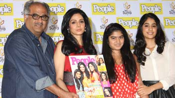 Video : Sridevi, daughters turn cover girls for People magazine
