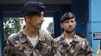 Video : Italian marines go home for Christmas