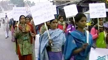 Video : बांदा में गैंगरेपकांड के विरोध में मार्च