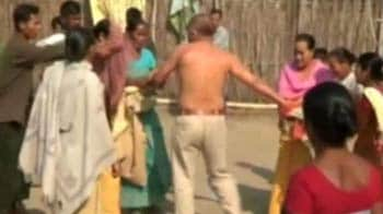 Video : Congress leader arrested for rape, beaten by villagers