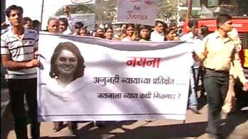 Video : Large turnout at rally for Pune woman allegedly raped, murdered in 2009
