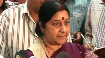 Video : If we don't get Hemraj's head, let's get 10 of theirs, says Sushma Swaraj