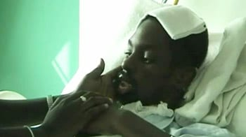 Video : African student, beaten and left to die, comes out of coma