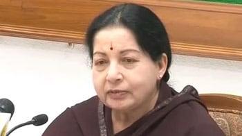 Video : Jayalalithaa alleges 'hysteria, wild charges' over <i>Vishwaroopam</i> ban