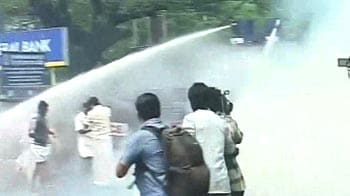 Video : Demand for PJ Kurien's resignation grows, water cannons used on protestors