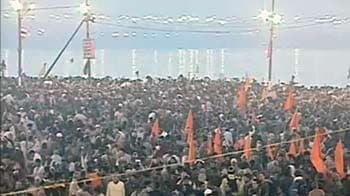 Video : 3 crore devotees expected to take the holy dip at Kumbh Mela today