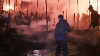 Videos : कुंभ मेले में आग, एक की मौत, कई टेंट खाक