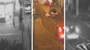 Video : CCTV footage of how mother and child survived after Audi runs them over