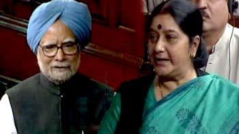 Videos : संसद : पीएम और सुषमा स्वराज में जवाबी शायरी