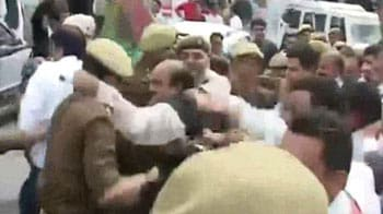 Video : CRPF camp attack: Ruckus outside J&K Assembly, protesters lathicharged