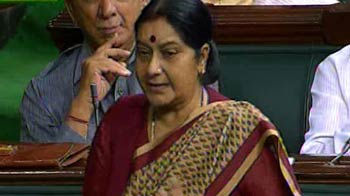 Video : Where is Home Minister, asks Sushma Swaraj in Parliament