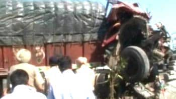 Video : Two children dead after truck crashes into their school