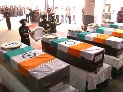 Video : द. सूडान में शहीद भारतीय सैनिकों के शव भारत पहुंचे