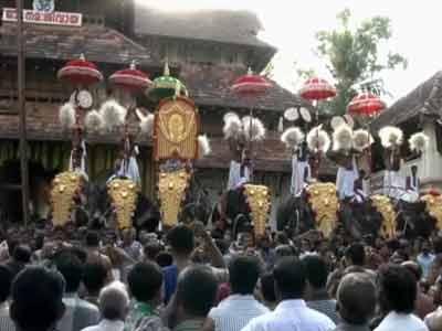 Video : Thousands witness Kerala's popular temple festival Thrissur Pooram