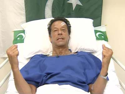 Video : Imran Khan injured, but not out: his emotional appeal from hospital bed