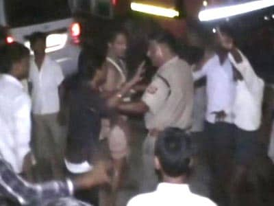 Video : Senior cop slapped, roughed up by angry mob in Akhilesh's home district in UP