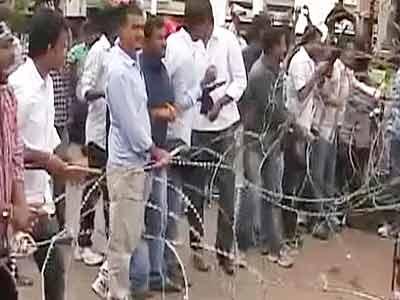 Videos : तेलंगाना समर्थकों का हैदराबाद में प्रदर्शन