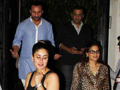 Video : Saif, Kareena's dinner date with Salman's sister
