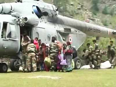 Video : At Harsil relief camp in Uttarakhand, the green tokens fly first; the reds have to wait