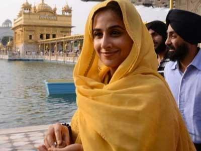 Video : Vidya prays at Golden Temple
