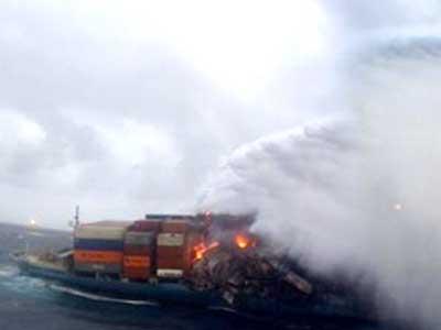 Video : Fire on merchant vessel off Mumbai coast put out