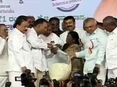 Video : Karnataka government, opposition in war of words over rice scheme