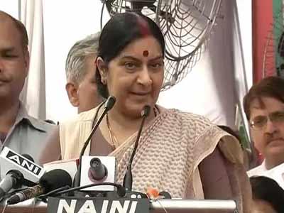 Video : Convert anger against Congress into votes for BJP: Sushma Swaraj