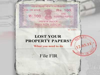 Video : Lost property papers? Here's what to do