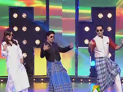Videos : 'साथ हैं हम उत्तराखंड' में शाहरुख का लुंगी डांस