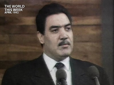 Video : The World This Week: Afghanistan President Najibullah removed from power (Aired: April 2002)