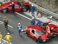 Video : World's most-expensive car crash: Eight Ferraris