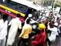 Video : Mumbai violence: CCTV footage shows large mob with arms at station