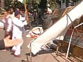 Video : In protests against quota bill, Sonia Gandhi posters ripped in Lucknow