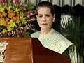 Video : Sonia Gandhi backs PM, slams Opposition
