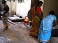 Video : No lessons learnt? Mid-day meal cooked on septic tank next to toilet