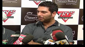 Video : Yuvraj launches food product