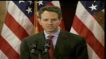 Video : Geithner downplays fears of double-dip