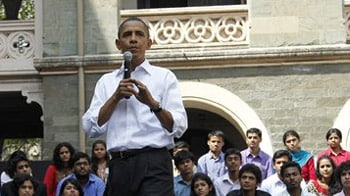 Video : Obama interacts with students in Mumbai