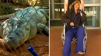 Video : Drunk man bitten by Fatso the Crocodile