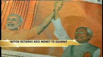 Video : Angry Nitish returns Modi's Kosi aid