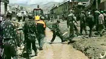 Video : Leh flash floods: 33 soldiers swept away to PoK, Pak help sought